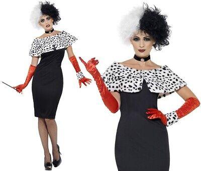 dame Fancy Dress Costume Cruella Outfit New by Smiffys  (Cruella Outfit)