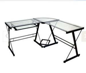 Office or home office glass desk