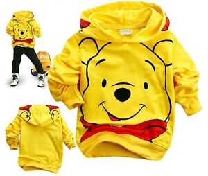 Winnie-the-Pooh-Kids-Toddlers-Boys-Girls-Hoodies-Unisex-Clothes-130-6-7Years