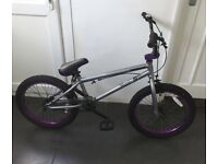 Mongoose silver and purple BMX
