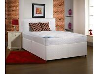 "Double Divan Base + 10"" Thick Orthopaedic Mattress -- Brand New -- Same Day Free Delivery"