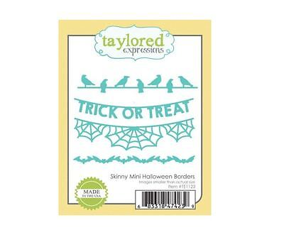 Taylored Expressions Cutting Die Set  ~  SKINNY MINI HALLOWEEN BORDERS   ~TE1123 - Halloween Expressions