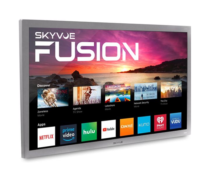 """TRUE OUTDOOR TV  4K SMART Tv FUSION BY SKYVUE 60"""" #1 Rated Weatherproof Tv"""