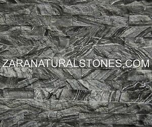 Spring Forest Fireplace Wall Stone Grey Stripes Veneer Stones