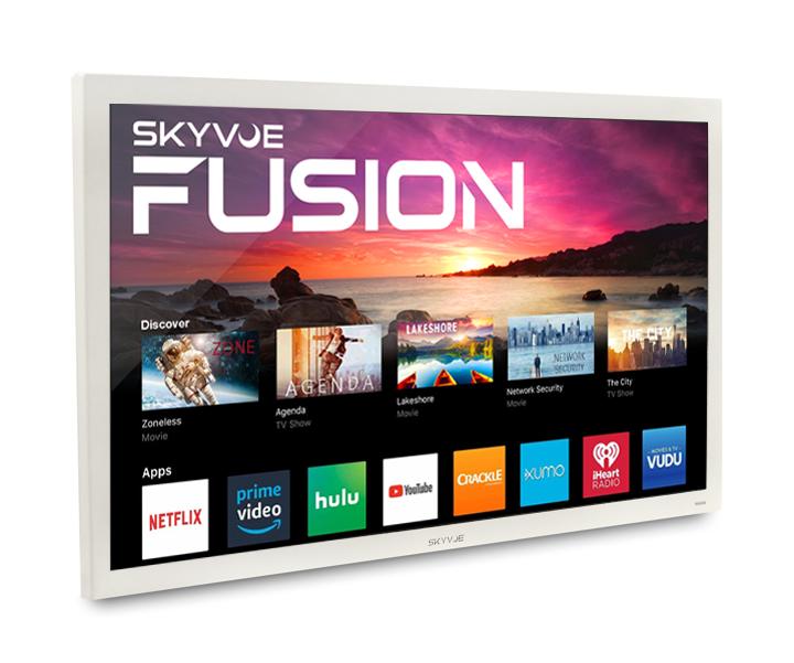 "SkyVue FUSION 50"" TRUE OUTDOOR TV 400NIT 4K HDR SMART #1 Rated Weatherproof TV"