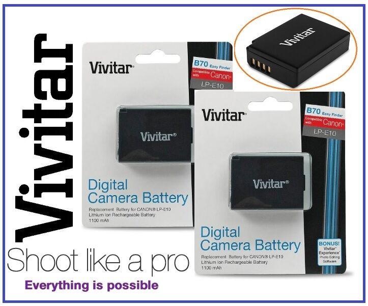 Vivitar LP-E10 Replacement BATTERY FOR Camera Accessories