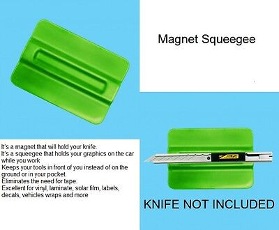 Magnetic Squeegee For Sign Vinyl Digital Print Car Wrap Burnisher