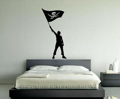 Cheap Wall Vinyl Sticker Decals Decor Kids Room Pirate Skeleton Flag  #130](Cheap Plastic Skeletons)