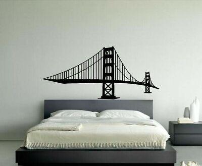 Wall Vinyl Sticker Decals Mural Design Mural Big Bridge Construction Art #864