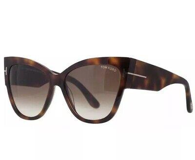 8db5a91424 Tom Ford TF 371 F 53F Anoushka Dark Havana Brown Gradient Lens Women  Sunglasses