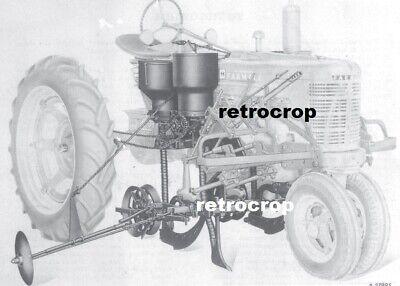 Hm-280 Mccormick Ih Farmall 2 Row Mounted Planter Manual Super H M Tractor Hm280