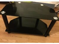Black glass Tv table £20