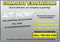 COMPANY EXPANSION!