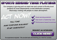 SPORTS MINDED TEAM PLAYERS
