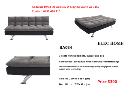 Brand New 3 Seaters Sofa Beds Various Model available from $249