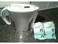 Brita Marella White Water Filter Jug with 4 Sealed Maxtra Filter Cartridges