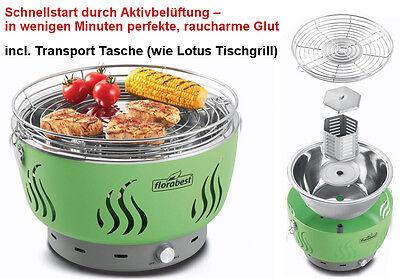 Raucharmer Holzkohle-Tischgrill BB02169G Grill Batteriebetrieben Grill Schwarz
