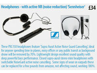 Headphones - with active NR (noise reduction) 'Sennheiser'