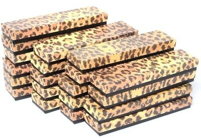 Lot Of 100 Leopard Cotton Filled Box Jewelry Gift Boxes Bracelet Box 8 X 2x 1