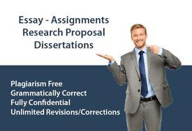 EXPERT HELP - DISSERTATION / ASSIGNMENT / PROPOSAL / ESSAY / SPSS/MATLAB/WRITING-PROOFREAD & EDITING