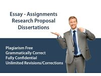 EXPERT HELP - DISSERTATION / ASSIGNMENT / PROPOSAL / ESSAY /MATLAB/ SPSS/WRITING-PROOFREAD & EDITING