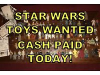 STAR WARS TOYS WANTED CASH PAID ! 70s 80s for personal collection