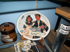 Norman Rockwell Collectible Plate with Plate Stand