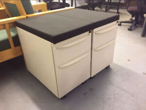 2 Drawer Pedastal Cabinet on Casters