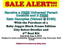 FREE Gift W' Purchase of A Double Select Stroller @ Baby Sam