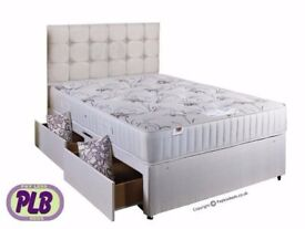 AMBASSADOR ORTHOPEDIC SET- Brand New Double or King Divan Bed and WHITE ORTHOPEDIC Mattress