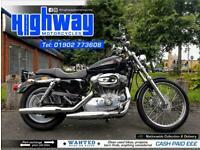 2008 Harley-Davidson XL883C Sportster Custom with Warranty & 12 Month MOT