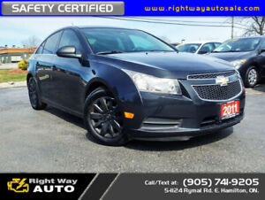 2011 Chevrolet Cruze LS | NEW TIRES | SAFETY CERTIFIED