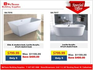 Modern Free Standing Tub for sale - only $799.99