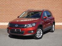 2012 62 Volkswagen Tiguan 2.0 TDI BlueMotion Tech SE Station Wagon (Red, Diesel)