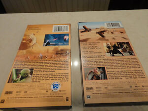 Two Star Wars VHS Movies - Phantom Menace & Attack Of The Clones Kitchener / Waterloo Kitchener Area image 2