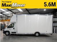 "Peugeot Maxi Mover 5.6m (18ft 4"") BIGMAX WIDE x 2.9m Roof Low Loader Luton Van"