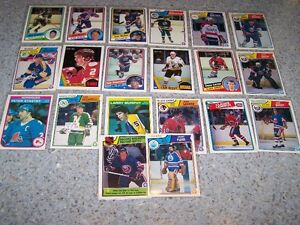 large collection of early 1980s OPC hockey superstars, see pix