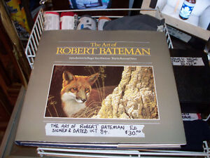 The Art of Robert Bateman Book Signed by author