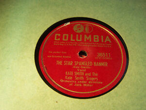 Beautiful NM Patriotic 78 RPM! Kate Smith! Star Spangled Banner!