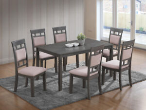 Brand new 7 PC Grey wood Dinette set is on sale for $698 only!!!