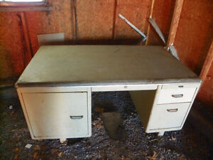 Antique metal offfice desk