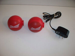 Pair Wireless BlueTooth Budweiser Speakers + One USB Charger