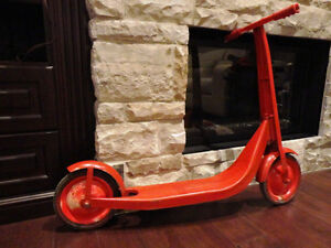 Vintage Radio Flyer All Metal Scooter -repainted But Great Shape Kitchener / Waterloo Kitchener Area image 1