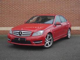2011 61 Mercedes C Class 2.1 C250 CDI BlueEFFICIENCY Sport Saloon (Red, Diesel)