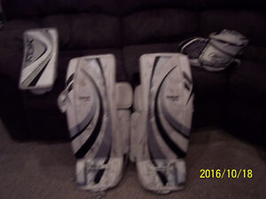 Goalie pads, Glove and Blocker set