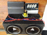 Twin 12 in subwoofer and amps for sale