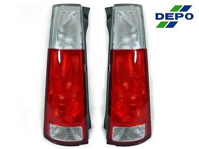 DEPO JDM LOOK Red/Clear Rear Tail Lights Pair For 97 98 99 00 01 HONDA CRV CR-V