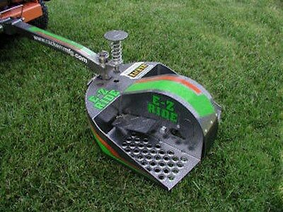 Rack'em EZ-Ride Lawn Mower Sulky - Fits Most Major Brands & Doesn't Jack Knife