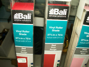 "New in box Bali Vinyl Roller Shade 37 1/4"" x 72"" $9 each."
