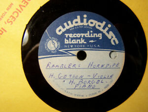 LOCAL RECORDIO & AUDIODISC DISCS FROM 1940'S & 50'S CJCH 1949O